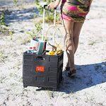 Relaxdays 10013399 Sac et Cabat avec Roulette Noir de la marque Relaxdays image 1 produit