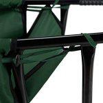 Relaxdays Brouette pliable verte grande 90 litres jardin 30 kg acier polyester HxlxP: 30 x 66 x 160 cm, vert de la marque Relaxdays image 3 produit