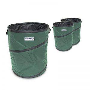 Relaxdays Sac ramassage feuilles mortes pliable Pliant sac jardinage déchets 160 litres de la marque Relaxdays image 0 produit