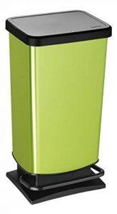 Rotho 1754110747 Poubelle à pédale Paso Plastique Vert Citron Métallique 45 x 35 x 25 cm de la marque Rothobabydesign image 0 produit