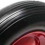 Roue complète de brouette en polyuréthane increvable Grandeur 3,50-8 de la marque WilTec image 4 produit