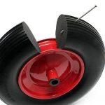 Roue complète de brouette en polyuréthane increvable Grandeur 3,50-8 de la marque WilTec image 3 produit