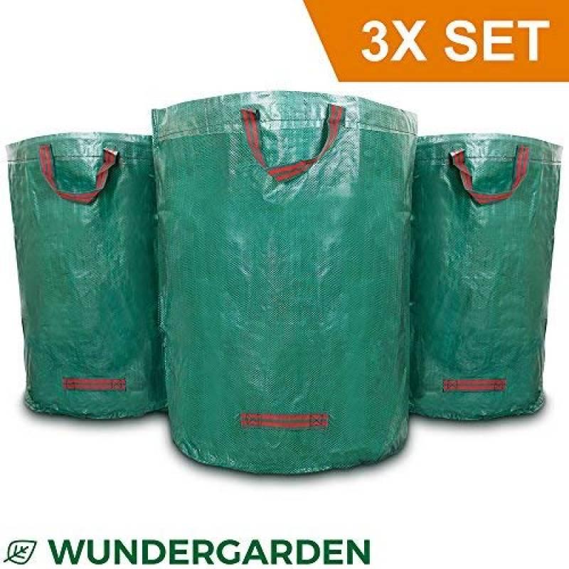 r/éutilisables RENS Lot de 3 Sacs /à d/échets de Jardin /étanches et imperm/éables pour Le Jardin