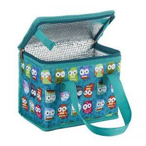 Sac Repas Lunch Bag Sac à Déjeuner Sac Fraîcheur Portable Isotherme Hibou vert 22cm X 16cm X 12cm de la marque TEAMOOK image 0 produit