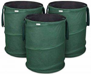 Sacs de déchets de jardin Pop-Up 3 x 170 litres - Sac de jardin auto-dressant en polyester Oxford 600D extrêmement robuste - Ensemble de sacs déco Premium autoportant, stable et pliable par GloryTec de la marque Glorytec image 0 produit