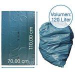 Sacs poubelle iLP 120 L - extrêmement résistant - rouleau de 25 - type 100 extra - sacs à ordures XXL sac pour déchets - 70 ? - 700x1100 mm - LDPE - bleu de la marque iLP image 1 produit