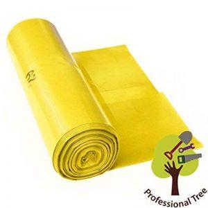 Sacs poubelle ProfessionalTree 120 L - extrêmement résistant - rouleau de 25 - type 100 extra - sacs à ordures XXL sac pour déchets - 70μ - 700x1100 mm - LDPE - jaune de la marque ProfessionalTree image 0 produit