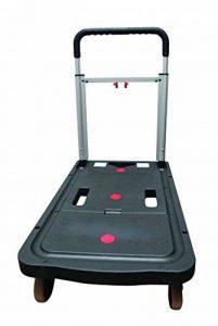 Safetool Manutention Chariot pliant en polypropylène capacité 140 kg 670 x 405 mm Noir de la marque Safe Tool image 0 produit