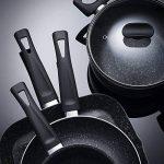 San Ignacio Set Master Batterie de cuisine Gourmet, aluminium au sang, gris foncé, Poêle de Ø20Poêle Wok de Ø28et poêle grill 28x 28 de la marque San Ignacio image 3 produit