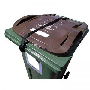 Sangle supérieure pour poubelle à roulettes - Pas d'outils ou de perçage nécessaire - Garde le couvercle fermé et le contenu sécurisé de la marque Bin Loc image 0 produit
