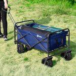 Sekey Chariot repliable Chariot pliante Brouette extérieure panier de plage Tout terrain chariot Remorque de jardin extérieur Chariot de transport de la marque Sekey image 1 produit