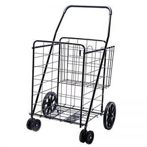 Solutions de style de vie Jumbo Deluxe Chariot de courses pliable avec deux roues pivotantes et double Andaluz Capacité de 90,7kilogram. de la marque Lifestyle image 0 produit