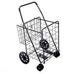 Solutions de style de vie Jumbo Deluxe Chariot de courses pliable avec deux roues pivotantes et double Andaluz Capacité de 90,7kilogram. de la marque Lifestyle image 2 produit