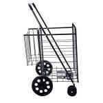 Solutions de style de vie Jumbo Deluxe Chariot de courses pliable avec deux roues pivotantes et double Andaluz Capacité de 90,7kilogram. de la marque Lifestyle image 3 produit