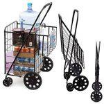 Solutions de style de vie Jumbo Deluxe Chariot de courses pliable avec deux roues pivotantes et double Andaluz Capacité de 90,7kilogram. de la marque Lifestyle image 1 produit