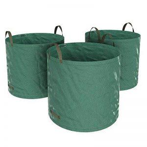 SONGMICS Lot de 3 Sacs de déchets de jardin, Volume 300 L, pour déchets et feuilles, pliables, avec anneaux de renfort, vert, GTS300GN de la marque SONGMICS image 0 produit