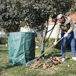 SONGMICS Lot de 3 Sacs de déchets de jardin, Volume 300 L, pour déchets et feuilles, pliables, avec anneaux de renfort, vert, GTS300GN de la marque SONGMICS image 4 produit