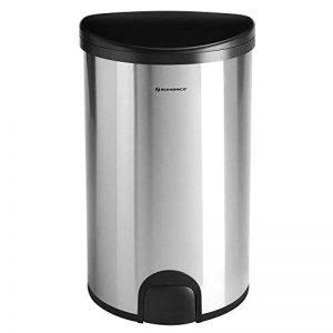 SONGMICS Poubelle automatique 50 L avec capteur de pied Poubelle de cuisine avec support de sac Anti-odeur Inox Volume Argent LTB91NB de la marque SONGMICS image 0 produit