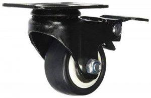 Sourcingmap a11072500ux0289Roues de chariot de 3,8cm pivotant Assiette plate Roulette industrielle frein de la marque Sourcingmap image 0 produit
