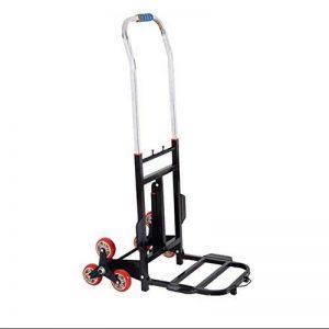 SSDM Chariot D'escalade Polyvalent De Main D'escalier, Tout-Terrain, Chariot S'élevant D'escalier, Se Pliant, Magasin Facile, Chariot De Main De Six Ronds (Noir, Rouge) de la marque SSDM image 0 produit