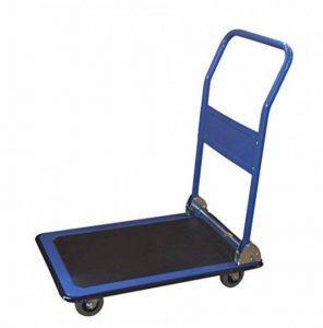 T-EQUIP PFW-150 Chariot plateforme, poignée rabattable, revêtement antidérapant, capacité de charge de 150kg, bleu de la marque T-EQUIP image 0 produit
