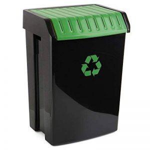 Tatay 1102301 Poubelle de Recyclage 50 L Plastique Noir/Vert 40 x 33,5 x 57,5 cm de la marque Tatay image 0 produit