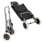 TecTake Chariot de Courses Pliable avec 2 Roues et Poche à L'arrière Panier - diverses couleurs au choix - (Noir) de la marque TecTake image 3 produit