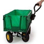 TecTake Chariot de transport jardin remorque à main Charrette à bras Chariot a bras 550kg voiturette voiture de la marque TecTake image 1 produit