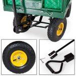 TecTake Chariot de transport jardin remorque à main Charrette à bras Chariot a bras 550kg voiturette voiture de la marque TecTake image 3 produit