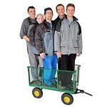 TecTake Chariot de transport jardin remorque à main Charrette à bras Chariot a bras 550kg voiturette voiture de la marque TecTake image 5 produit
