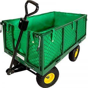 TecTake Chariot de transport jardin remorque à main Charrette à bras Chariot a bras 550kg voiturette voiture de la marque TecTake image 0 produit