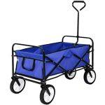 TecTake Chariot de transport à main offroad Remorque de jardin pliable | 98 x 55 x 122 (LxBxH) | -diverses couleurs au choix- (Bleu | no. 402595) de la marque TecTake image 2 produit
