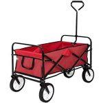 TecTake Chariot de transport à main Remorque de jardin pliable | 98 x 55 x 122 (LxBxH) | -diverses couleurs au choix- (Rouge | no. 400906) de la marque TecTake image 2 produit