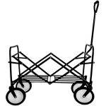 TecTake Chariot de transport à main Remorque de jardin pliable | 98 x 55 x 122 (LxBxH) | -diverses couleurs au choix- (Rouge | no. 400906) de la marque TecTake image 4 produit