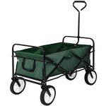 TecTake Chariot de transport à main Remorque de jardin pliable | 98 x 55 x 122 (LxBxH) | -diverses couleurs au choix- (Vert | no. 402596) de la marque TecTake image 2 produit