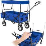 TecTake Chariot pliable avec toit amovible charrette de transport à tirer main - diverses couleurs au choix - (Bleu | No. 402316) de la marque TecTake image 2 produit
