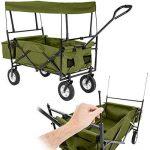 TecTake Chariot pliable avec toit amovible charrette de transport à tirer main vert de la marque TecTake image 2 produit