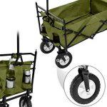 TecTake Chariot pliable avec toit amovible charrette de transport à tirer main vert de la marque TecTake image 3 produit