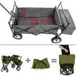 TecTake Chariot pliable avec toit amovible charrette de transport à tirer main vert de la marque TecTake image 4 produit