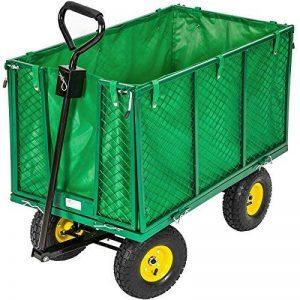 TecTake charrette Chariot à main benne remorque remorquage benne structure fer charge maximale: 300kg de la marque TecTake image 0 produit