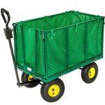 TecTake charrette Chariot à main benne remorque remorquage benne structure fer charge maximale: 300kg de la marque TecTake image 1 produit