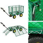 TecTake charrette Chariot à main benne remorque remorquage benne structure fer charge maximale: 300kg de la marque TecTake image 2 produit