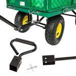 TecTake charrette Chariot à main benne remorque remorquage benne structure fer charge maximale: 300kg de la marque TecTake image 4 produit