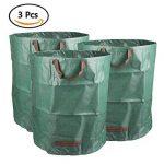 TIMESETL 3Pack Sacs de jardin 810 Litres Pop Up Sac de jardinage avec poignées pour déchets de jardin Weed de la marque TIMESETL image 0 produit