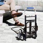 TROLLEY NAN En caoutchouc 6 tours d'escalier Chariot de ménage Chariots à provisions Remorques à roulettes Pliant chariots 115 * 65 * 40cm (taille : Rubber wheel) de la marque TROLLEY image 1 produit