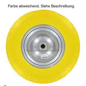 UNITÉ CENTRALE Roues de BROUETTES 4.00-8/100X400mm TIGE:20mm felgen-breite :100mm largeur d'ESSIEU:75 mm en caoutchouc pleine 400mm 150KG RECHANGE schlachlos Pannenfrei résistant à la perforation de la marque DWT-Germany image 0 produit