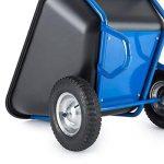 Waldbeck Colossus - Brouette sur 2 roues haute capacité pour charges lourdes jusqu'à 350kg - Capacité de 300L - Grandes poignées en caoutchouc - Excellente stabilité sur terrains accidentés - bleu de la marque Waldbeck image 3 produit
