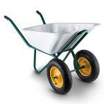 Waldbeck Heavyload • Brouette • Chariot de jardin • Capacité de transport 120l• Capacité de charge 320 kg • En tôle d'acier galvanisé • Bonne stabilité• Résistant aux intempéries • vert-argent de la marque Waldbeck image 1 produit