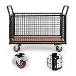 Waldbeck Loadster Chariot grillagé de manutention (max. 500kg, cadre en tubes d'acier de 3,8 cm de diamètre, 4 roues en caoutchouc dur fixes & pivotantes) de la marque Waldbeck image 2 produit