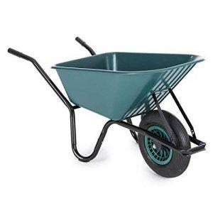 Waldbeck Speedy Bull Brouette pour travaux (jardin, ferme, étable, chantier, 100L, 200 kg, plastique PP) - vert de la marque Waldbeck image 0 produit